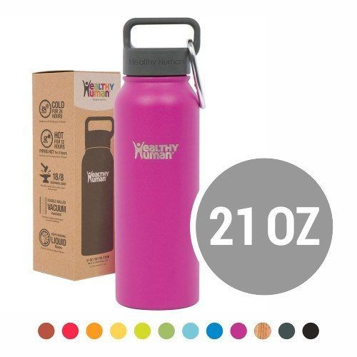 823998c66 Healthy Human  21oz Insulated Stainless Steel Water Bottle Steins ...