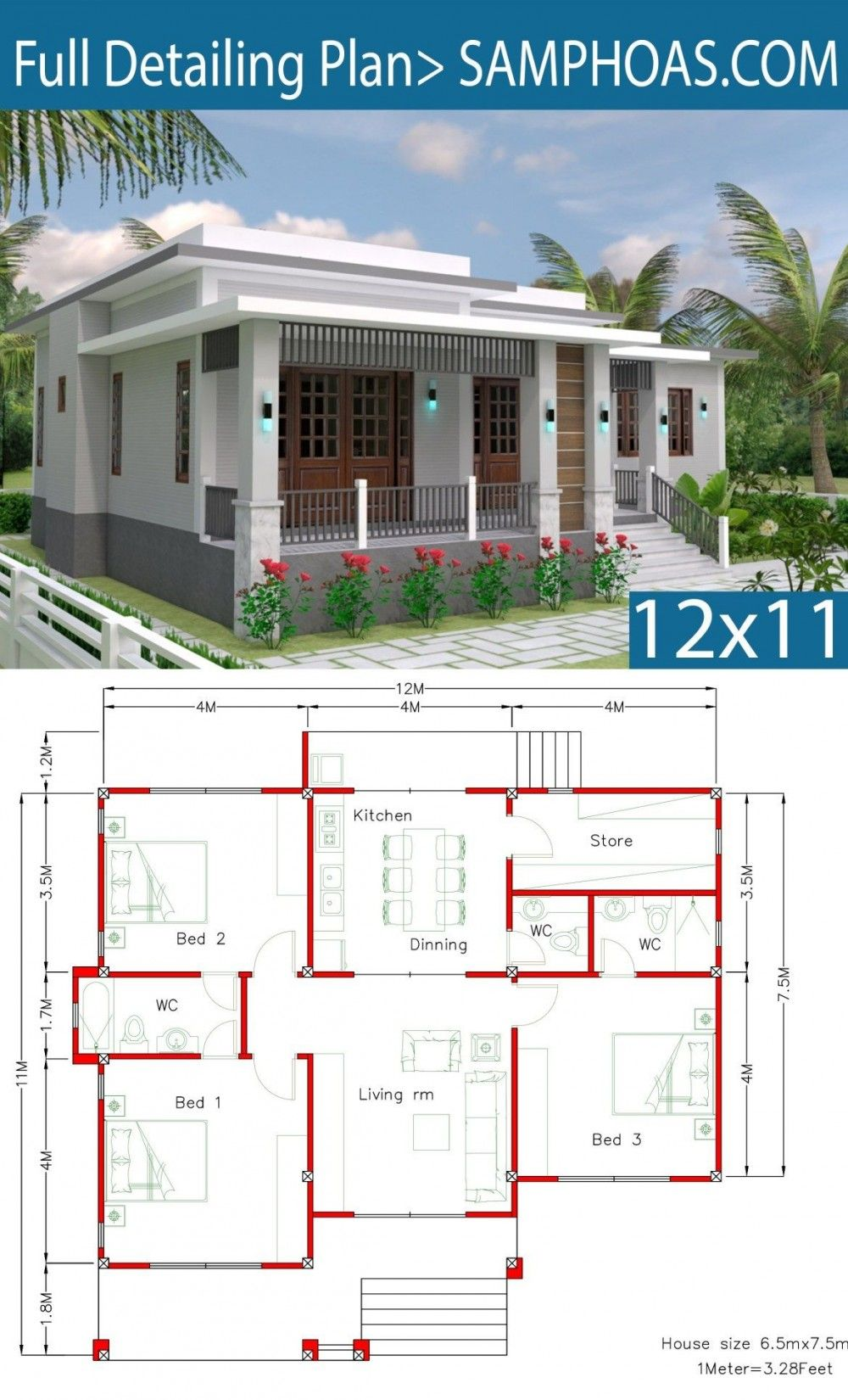 Plan 23686jd Plan De Maison Moderne Avec Options A L Etage Simple House Design Model House Plan House Plans
