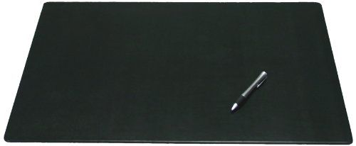 Dacasso Black Leather Conference Table or Desk Pad, 24 by 19-Inch