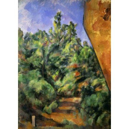 Pins et Rochers  by Paul Cezanne Giclee Repro on Canvas