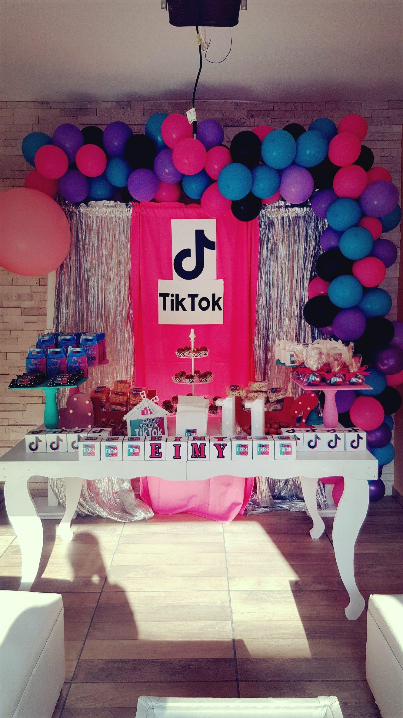 Tik Tok Teenage Birthday Party Birthday Surprise Party 12th Birthday Party Ideas