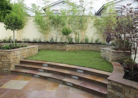Split level garden design and landscaping | Zahrada Broughton ...