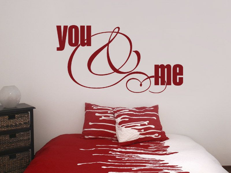 Wandtattoo you and me Bedroom red and Bedrooms