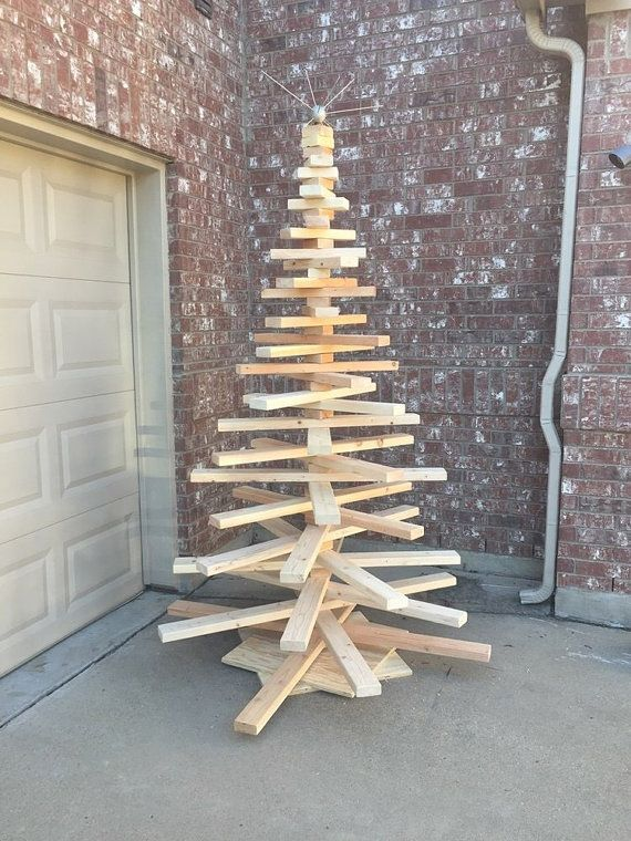 Large Wooden Christmas Tree By Wheezerworks On Etsy Wooden Christmas Trees Handmade Christmas Tree Christmas Crafts