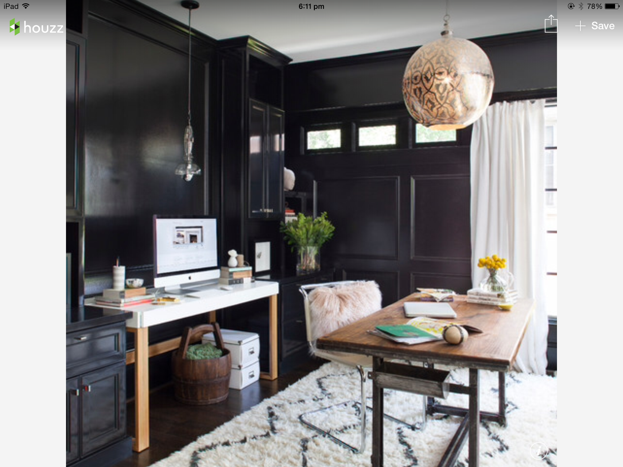 Chic Office Space - Black And Copper