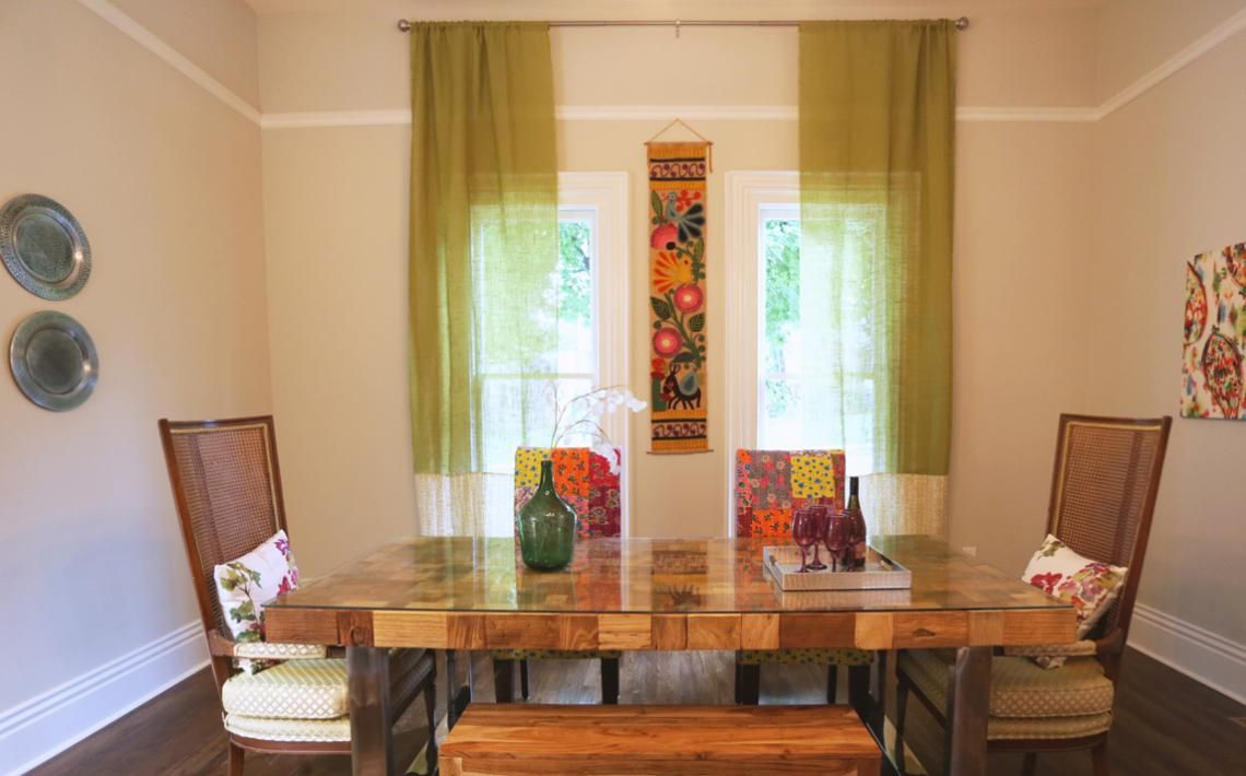 From Masters Of Flip This DiningRoom Keeps It Classic With Wooden Table