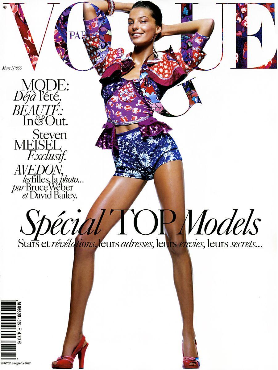 Daria Werbowy by David Sims Vogue Paris March 2005