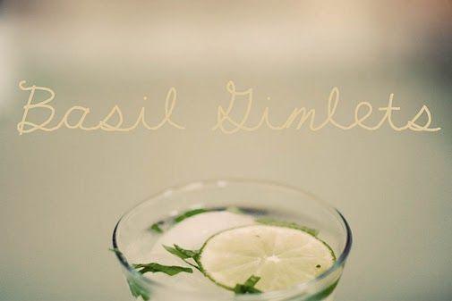 sweet basil gimlets