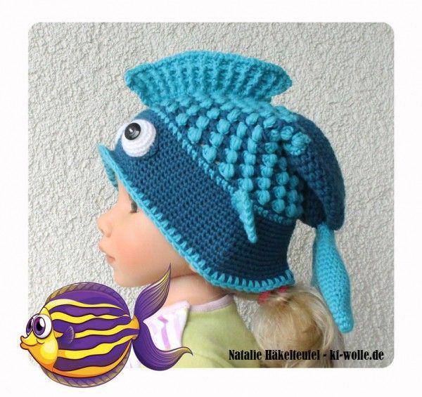 Fisch-Mütze häkeln << Kindermütze Fisch-Motiv | mütze | Pinterest ...
