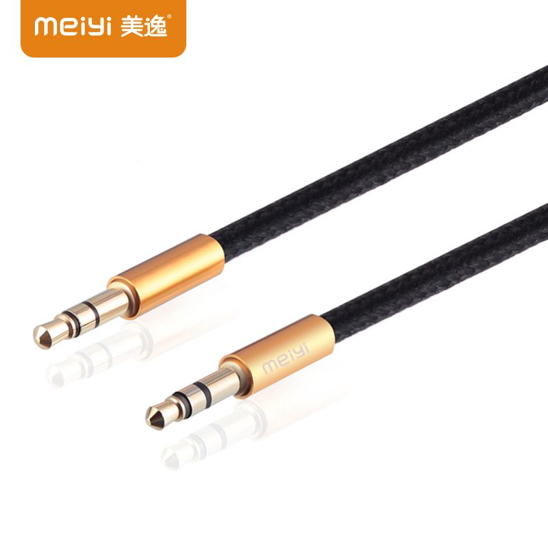 MEIYI Vergoldete Stecker 3,5mm Jack Aux Kabel Stecker auf stecker ...