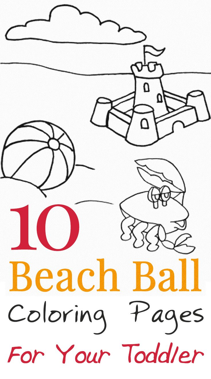 Top 10 Beach Ball Coloring Pages For Your Toddler