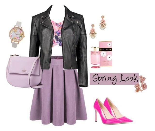 """Spring"" by tattooedmum on Polyvore featuring Doublju, Olivia Burton, Prada, Boohoo, Kate Spade and Jimmy Choo"