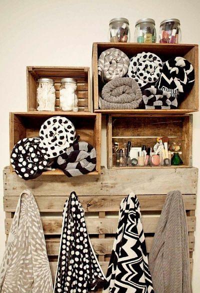 Mueble para baño cajas de madera y palet   Cajas madera   Pinterest ...