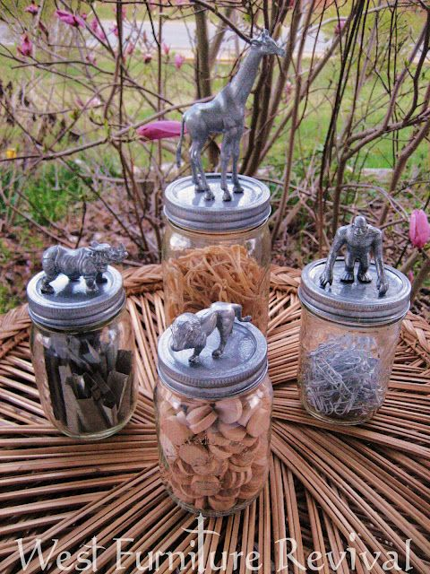 Fun for kids, they can have their own animal jar. For allowance, treats, whatever!