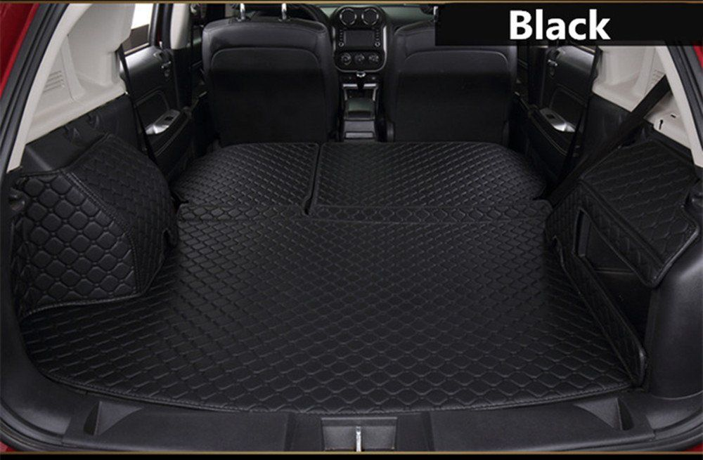 Cargo Mat Full Covered Trunk Mats Cargo Liners Leather Boots Liner Pet Mats For Audi S3 S3 Black With Black Line Click On Cargo Liner Boot Liners Cargo Mat
