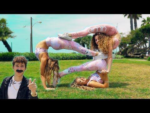 extreme yoga challenge with the rybka twins  youtube