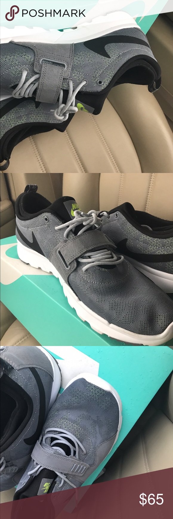 Shop Men's Nike Gray Black size 13 Shoes at a discounted price at Poshmark.  Description: New with tag.