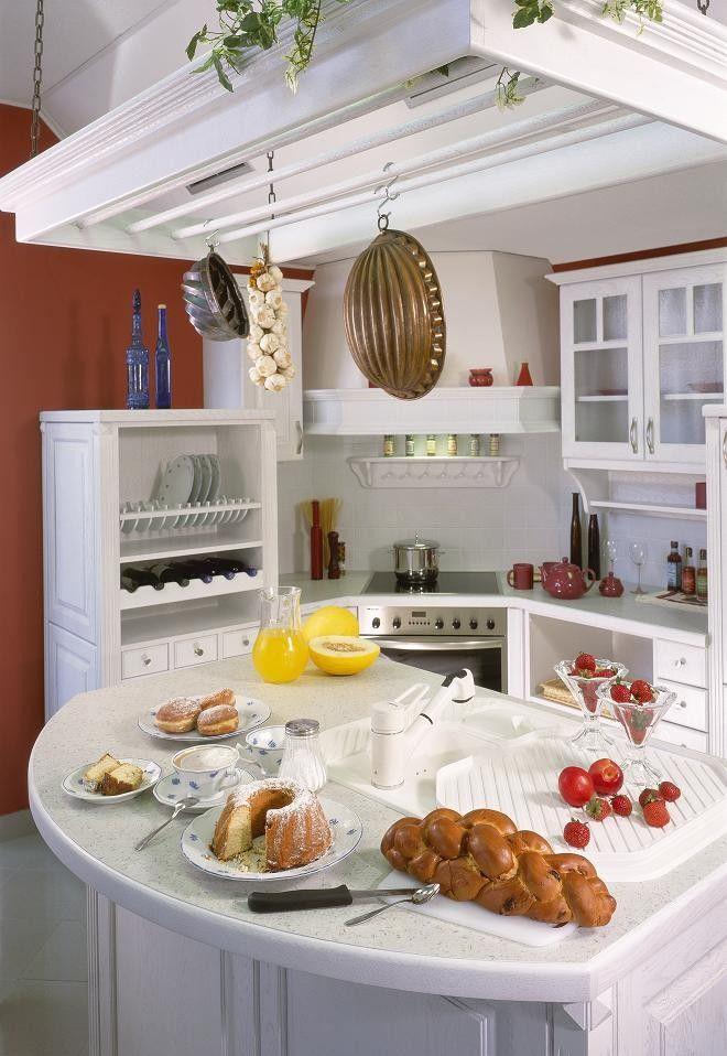 bělená kuchyně, kitchen, küche