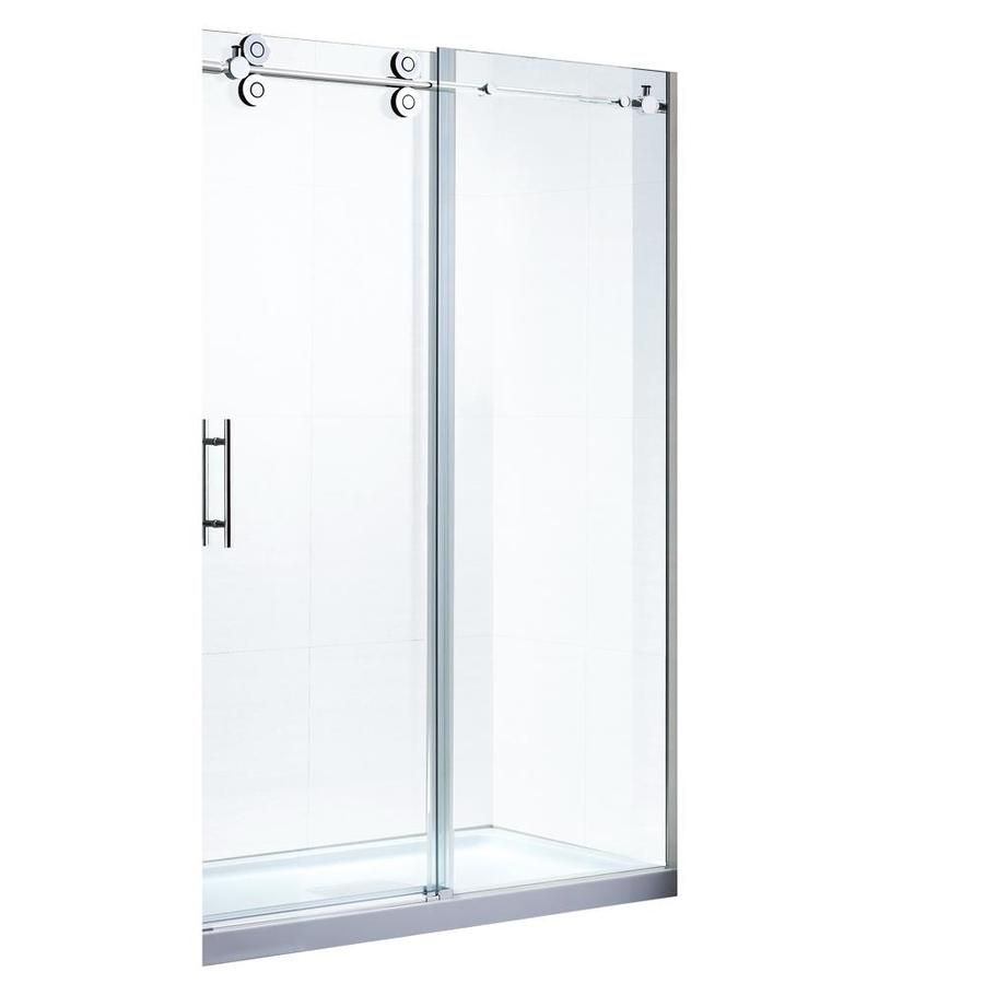 Ove Decors Sydney 56 In To 59 5 In Frameless Satin Nickel Sliding