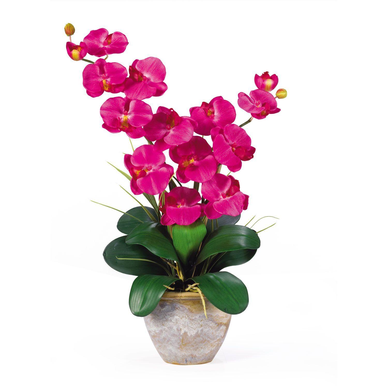 double stem silk orchid arrangement - Silk Orchids