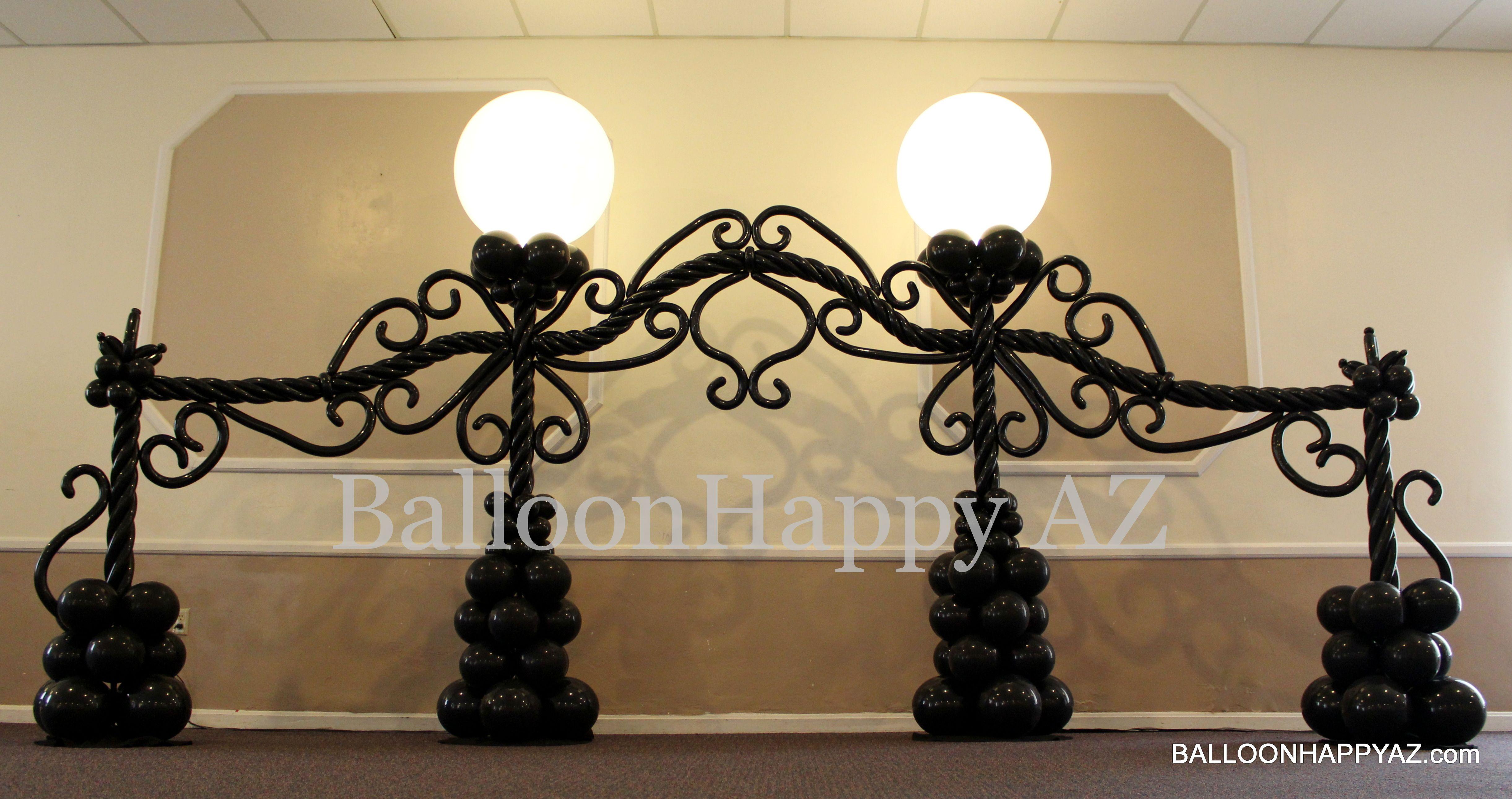 Wedding decoration ideas with balloons  backdropg   London Theme  Pinterest  Balloon arch