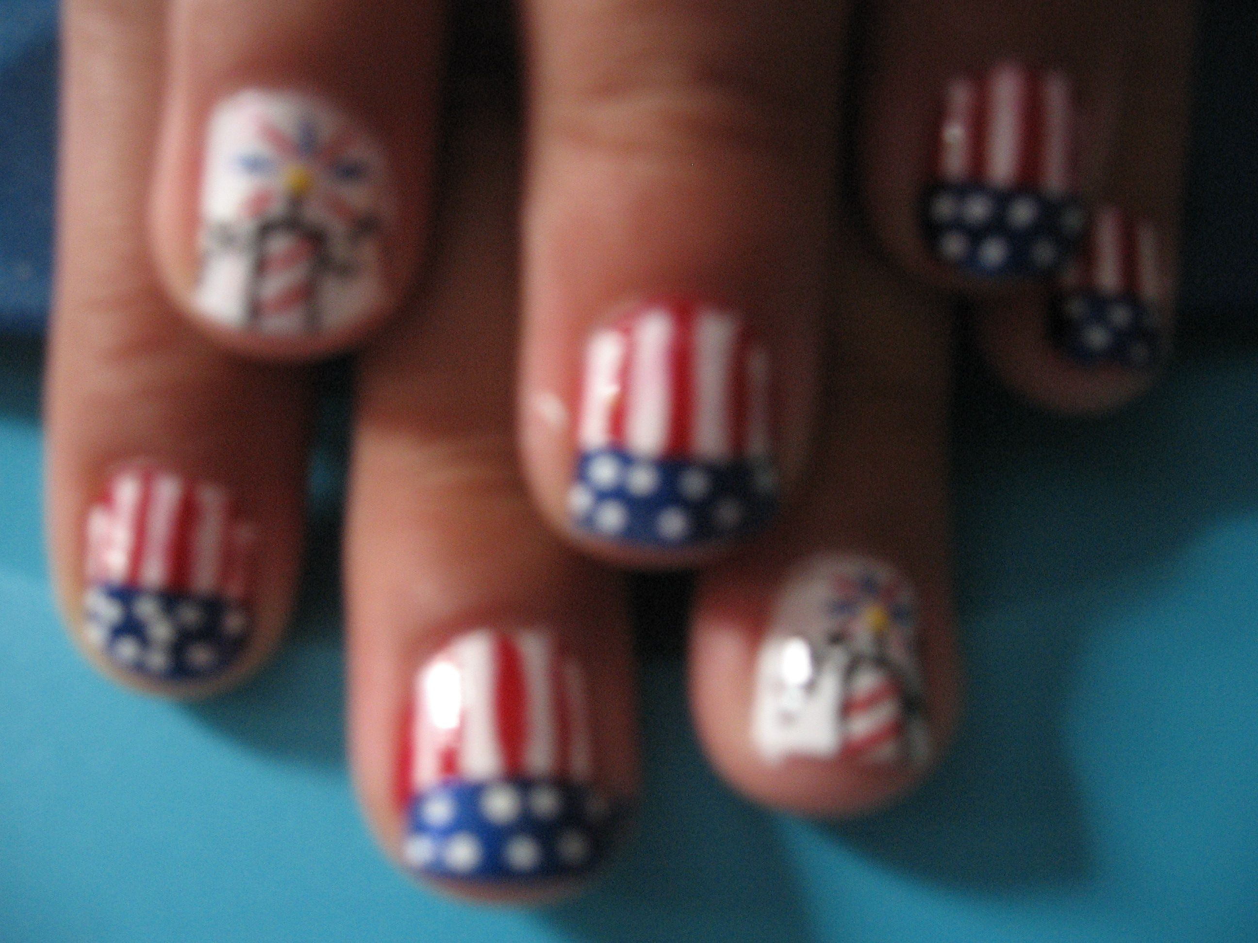 forth of July | Nails Iv Done! | Pinterest | Rot und Blau