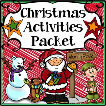 This Christmas activities book includes 24 pages of Christmas activities to keep your students motivated through the holidays! All Christmas activities are in black & white only so that the kids can color their own books and you can save on ink. We've taken many of the ideas from our top selling end of the year memory books and revamped them to make them fun Christmas activities.