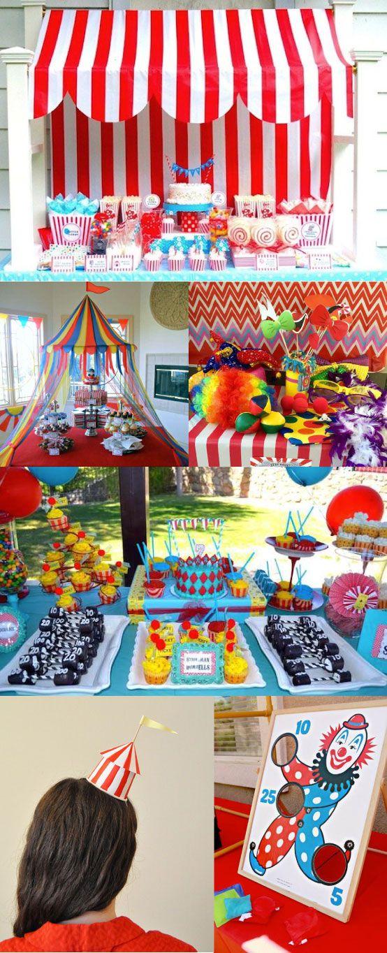 Fiestas infantiles de circo circus party carnival and - Como hacer adornos para fiestas ...