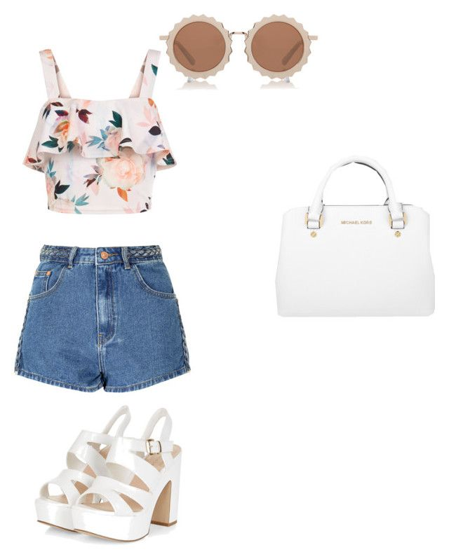 """""""Sunny day in LA 😎😎😎"""" by neneglaze on Polyvore featuring Glamorous, New Look, Michael Kors and House of Holland"""