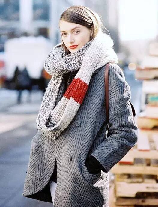 18646a4b19 statement coat + statement scarf   winter style done right.