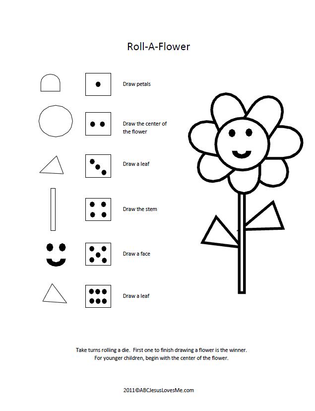 Roll-a-Flower Game | Math | Pinterest
