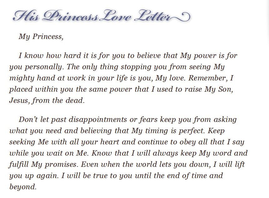 I Sorta Really Needed This  A Princess Letter From God  Words