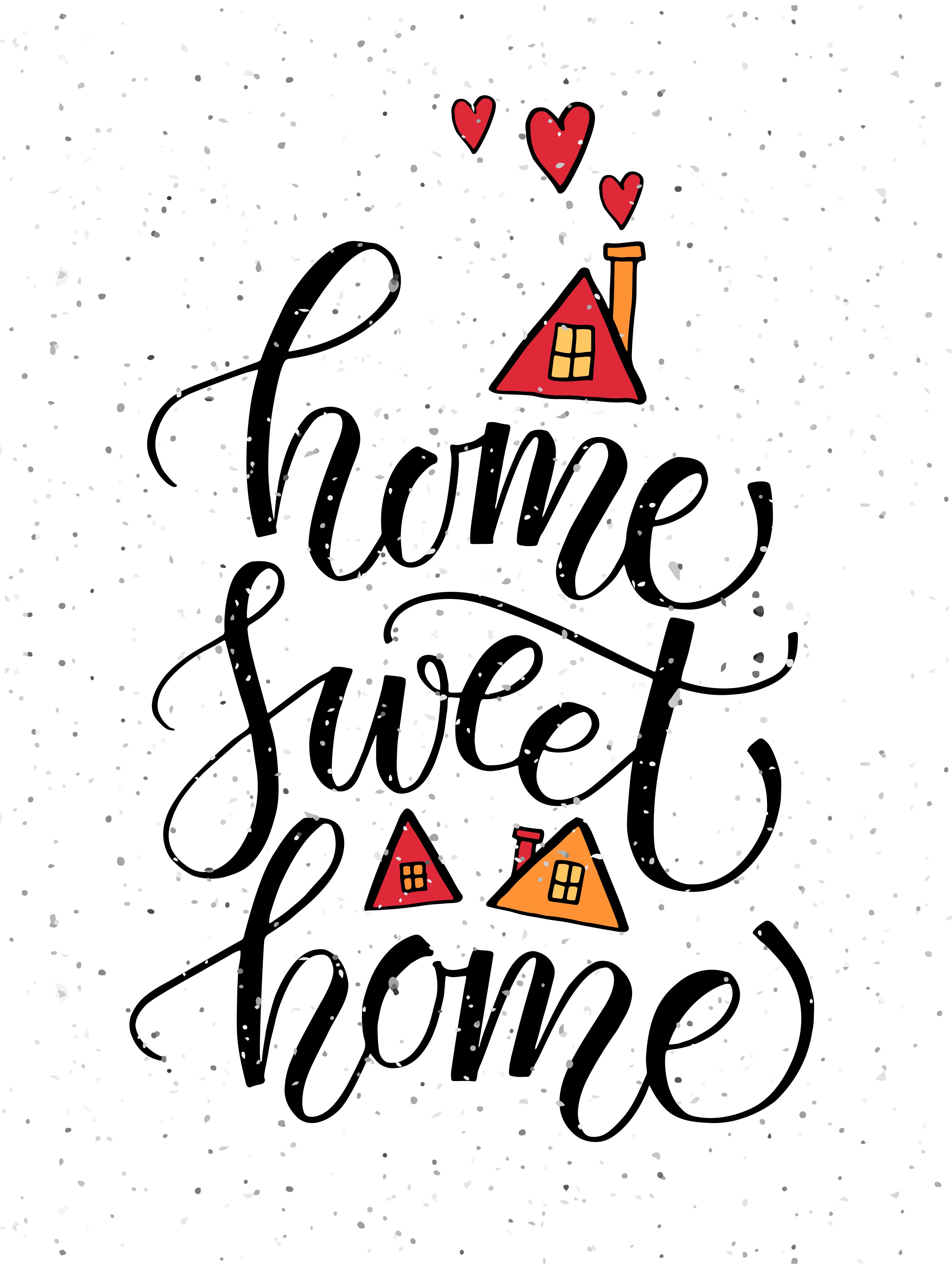 7480ac4b99c9 Home Sweet Home Typography Poster by Alps View Art on @creativemarket
