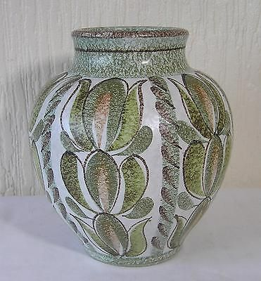 Large Denby Glyn Colledge Leaf Pattern Vase 85 Tall Vgc British