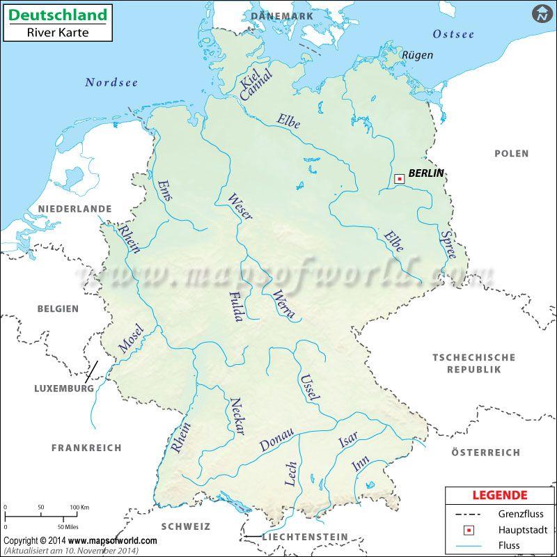 Deutschland Fluss Karte Karte Deutschland Deutschland Und