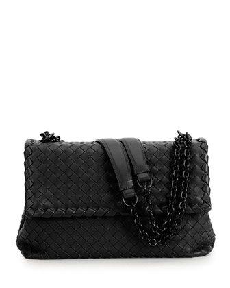d89042a26e07f9 Olimpia Medium Shoulder Bag, Black by Bottega Veneta at Neiman Marcus.