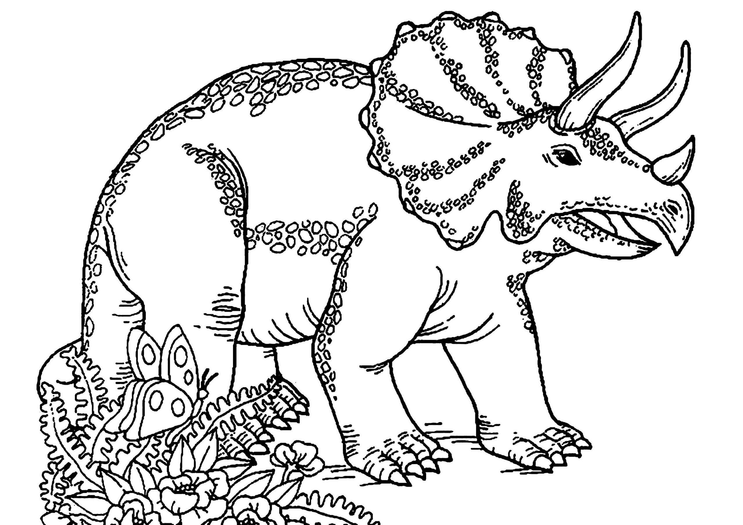 Free Printable Dinosaur Coloring Worksheet In
