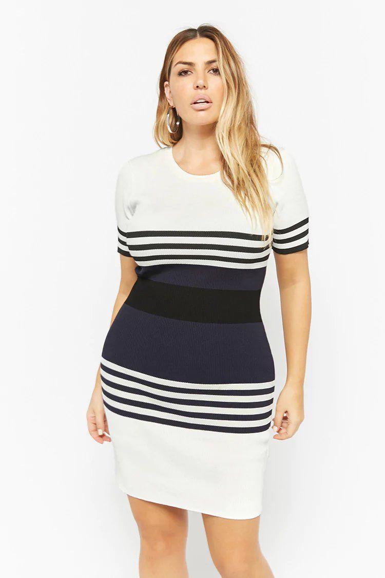 Product Name Plus Size Striped Bodycon Dress Category Clearance Zero Price 45 Plus Size Bodycon Dresses Plus Size Fashion For Women Plus Size Outfits [ 1125 x 750 Pixel ]