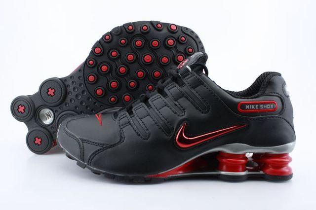 Mens Nike Shox NZ Black Red Logo Shoes | Nike Shox For Men,Cheap Nike Shoes  Women | Pinterest | Mens nike shox, Nike shox and Black