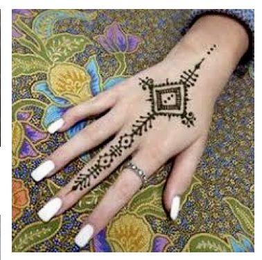 faf2feb4ace12 Easy geometric henna tattoo designs you could draw with henna paste  www.laminau.com laminau henna stencil kits and henna stencils 6 in 1 Henna  kits.