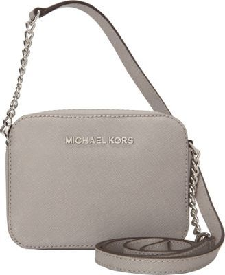 b35622003f5a MICHAEL Michael Kors Jet Set Travel Crossbody Bag Pearl Grey - #womens  #fashion #accessories #fall #style #handbags