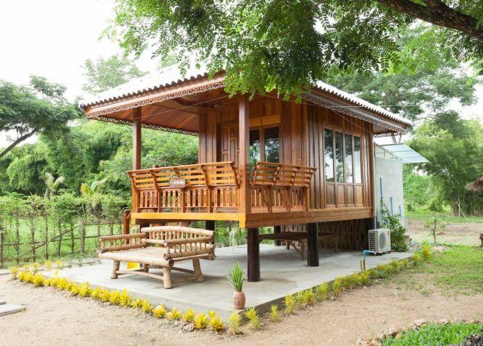 40 แบบ บ านพอเพ ยง บ านหล งน อยๆ งบประหย ดๆ โดนๆ เอาใจคนงบน อยๆ Hut House Tropical House Design Wooden House Design