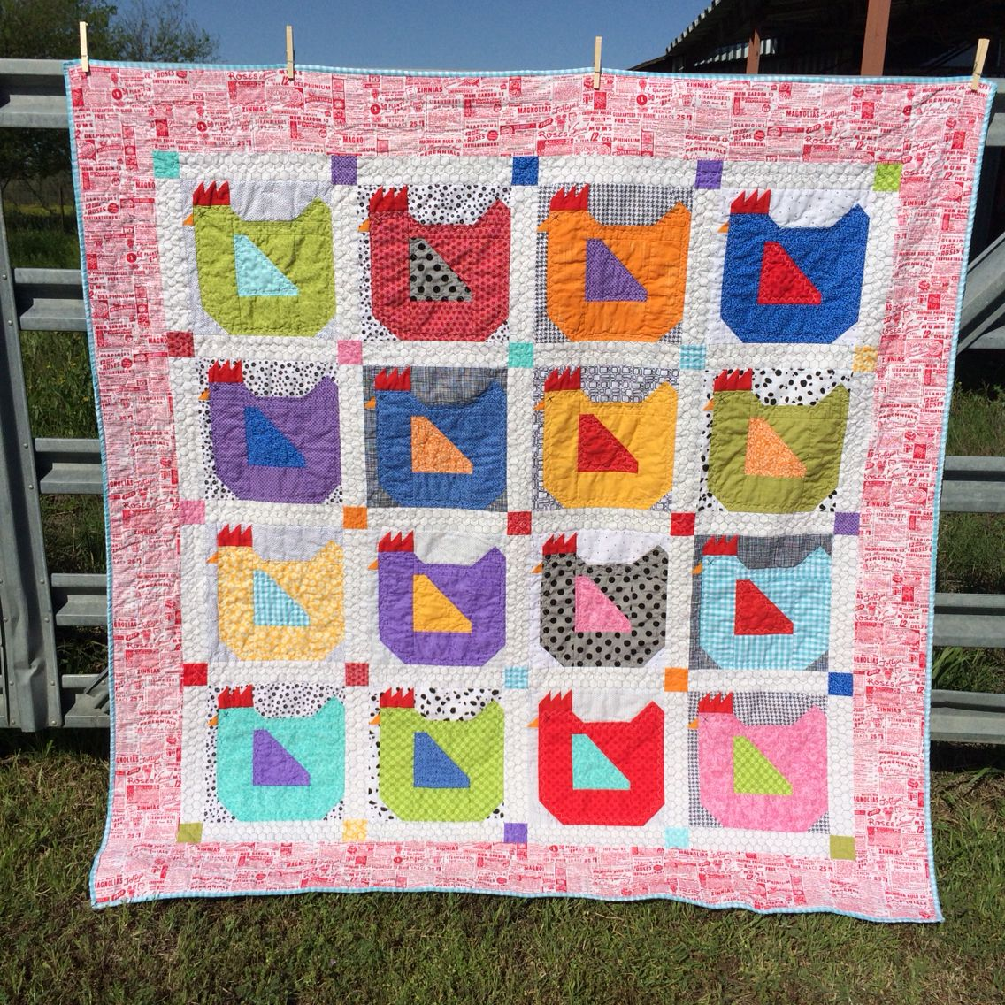 Momma Hen quilt....chicken quilt. Pattern by Lori Holt from her ... : lori holt quilt patterns - Adamdwight.com