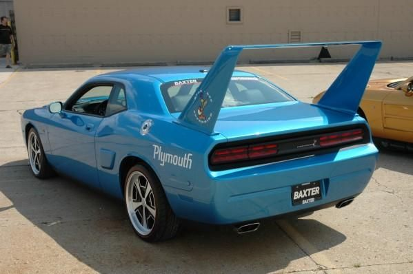 2010 HPP Plymouth Superbird AKA Dodge Challenger with fake wing