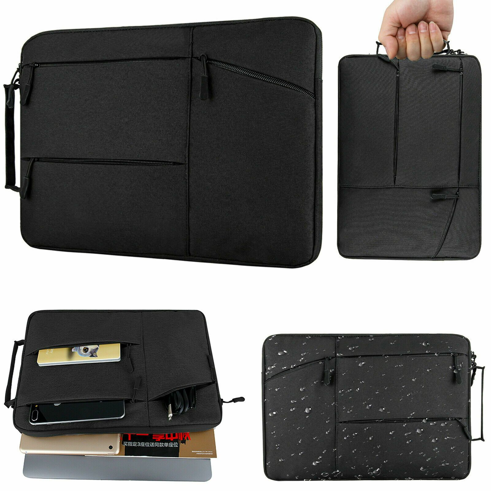 "13/"" 15/"" Laptop Sleeve Case Carry Cover Bag for Macbook Air Pro Notebook HP Dell"