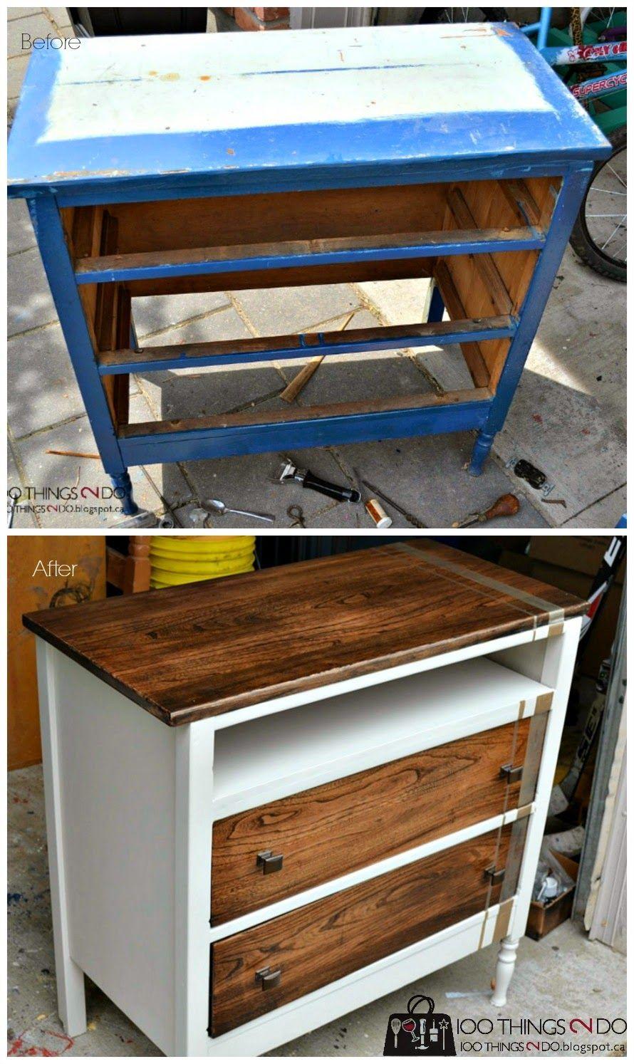 Dresser to console unit. Repurposed dresser. Dresser makeover.