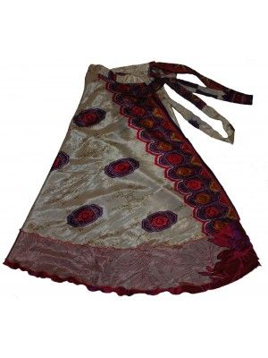 20 Vintage silk magic wrap skirt 10 pcs - Store333 Skirts