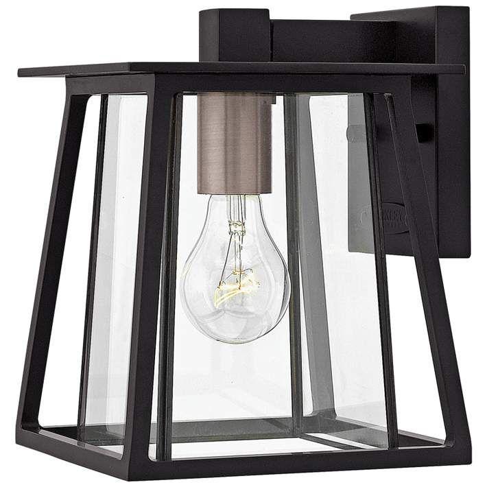 Hinkley Walker 9 1/2″ High Black Outdoor Wall Light – #38A62 | Lamps Plus