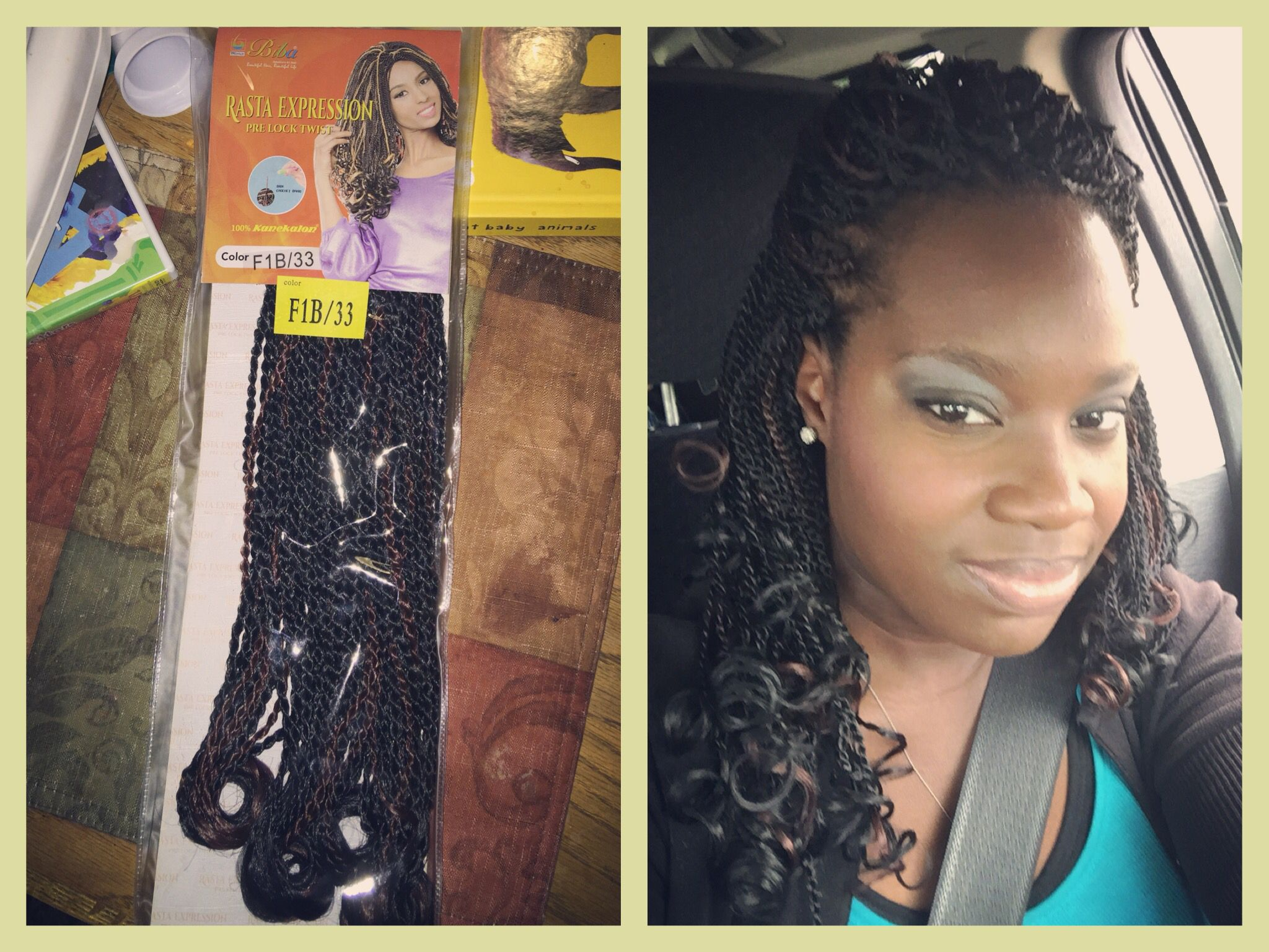 Crochet Braids Pre Lock Twists Already Curled At The Ends F1b