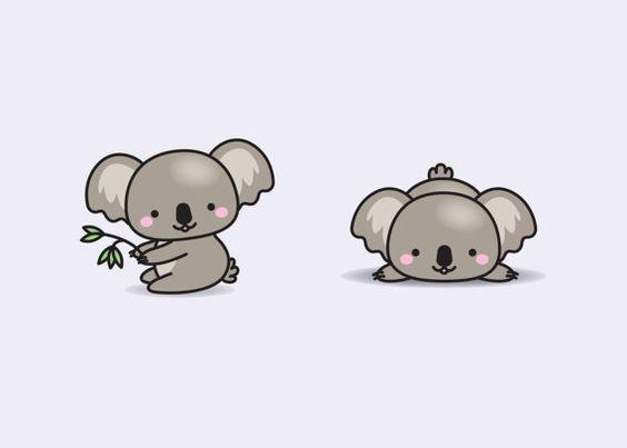 premium vector clipart kawaii koala cute koalas clipart set rh pinterest com koala clipart images koala clipart outline